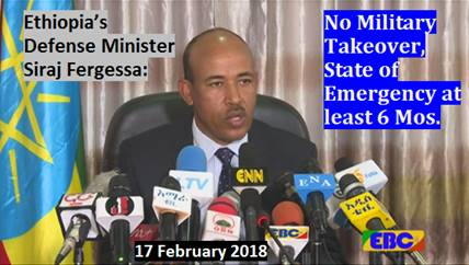 Ethiopia: No Military Takeover, State Of Emergency At Least